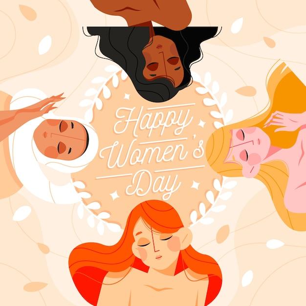 Концепция дизайна женского дня плоский дизайн Бесплатные векторы