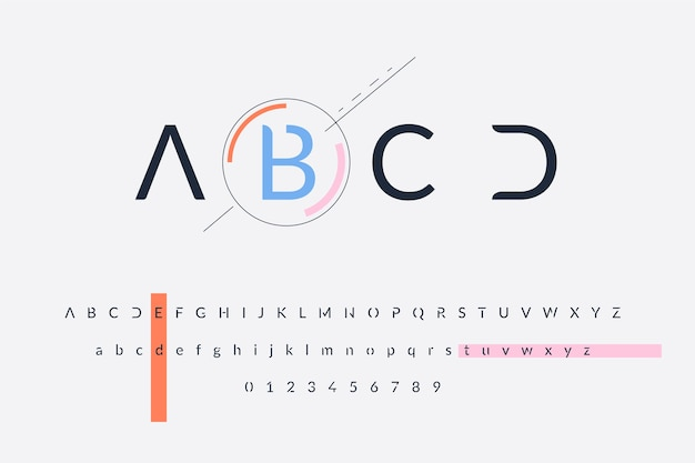 抽象的な最小限のアルファベット 無料ベクター