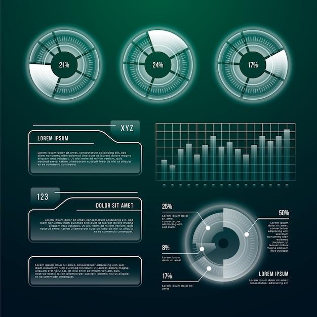 未来技術のインフォグラフィックテンプレート 無料ベクター