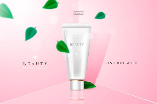 美容と青少年の化粧品広告 無料ベクター