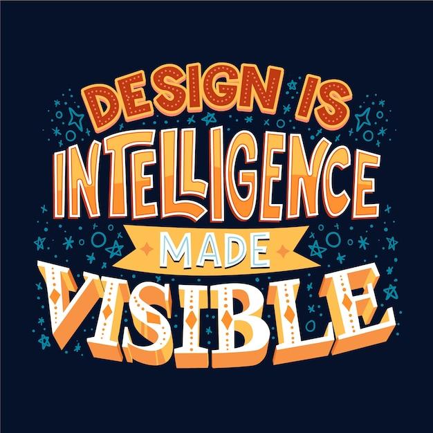 Дизайн разведки знаменитой надписи Бесплатные векторы