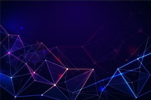Цифровая технология концепции фон Premium векторы