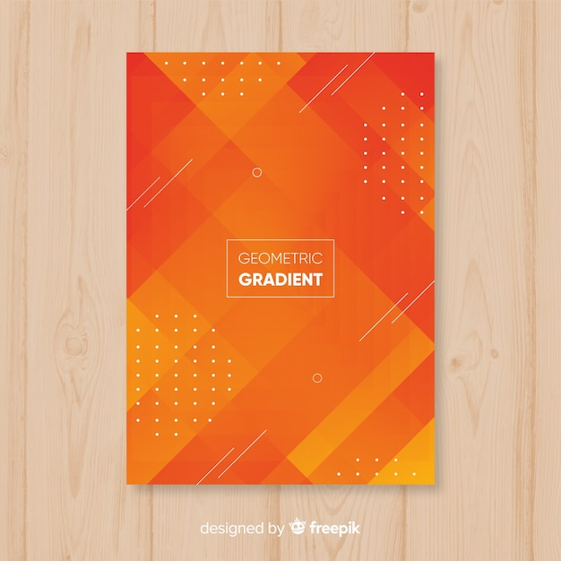 幾何学的グラデーションポスター 無料ベクター