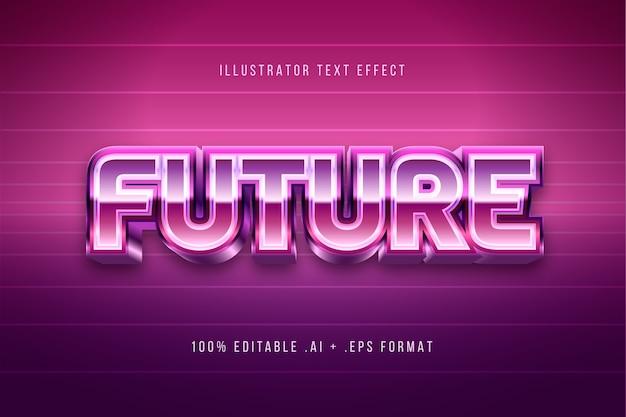 Эффект блестящего будущего текста Бесплатные векторы