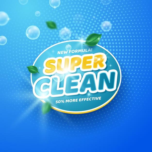 Вирицидное и бактерицидное чистящее средство Бесплатные векторы