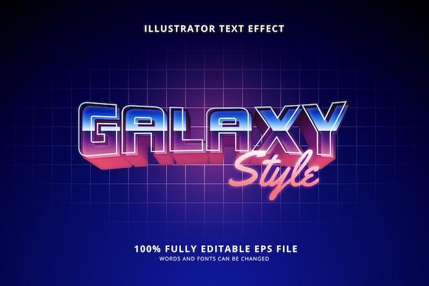 Текстовый эффект в стиле галактики Бесплатные векторы