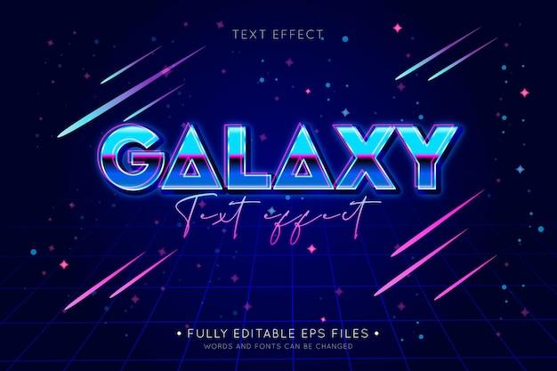 Блестящий текстовый эффект галактики Бесплатные векторы