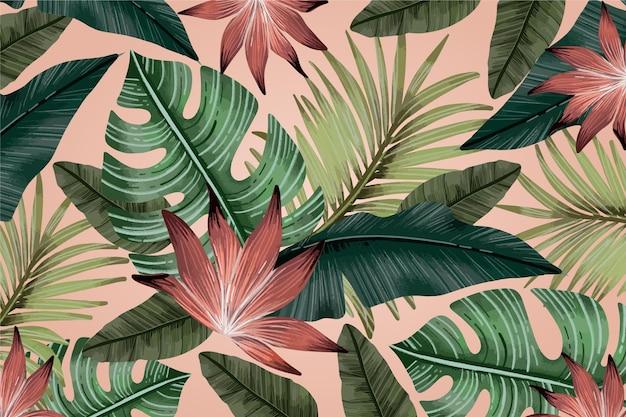 熱帯のビンテージ背景 無料ベクター