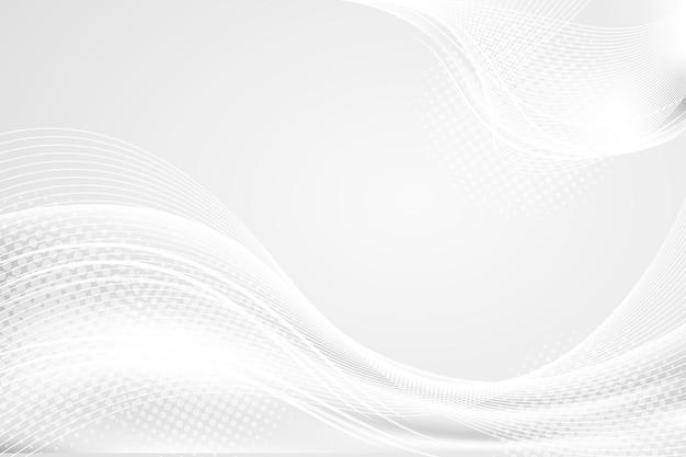 Роскошный белый с фоном волн Бесплатные векторы