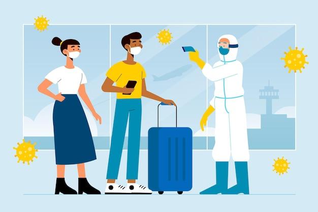 Аэропортовые превентивные меры Бесплатные векторы