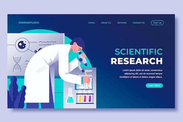 科学研究ランディングページ 無料ベクター