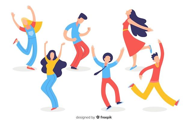 Люди танцуют Бесплатные векторы