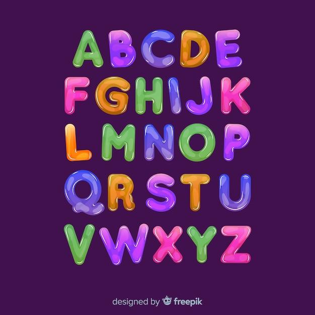 多色アルファベット 無料ベクター
