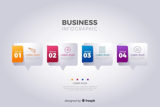 ビジネスインフォグラフィックテンプレート 無料ベクター
