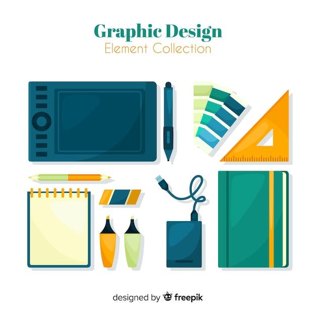 グラフィックデザインエレメントコレクション 無料ベクター