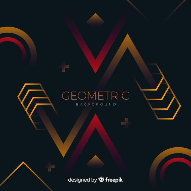 グラデーション図形と幾何学的な背景 無料ベクター