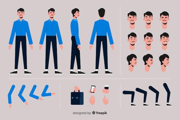 Шаблон персонажа мультфильма мальчик Бесплатные векторы