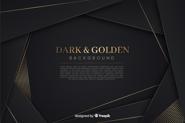 Темно-золотой многоугольный фон Бесплатные векторы