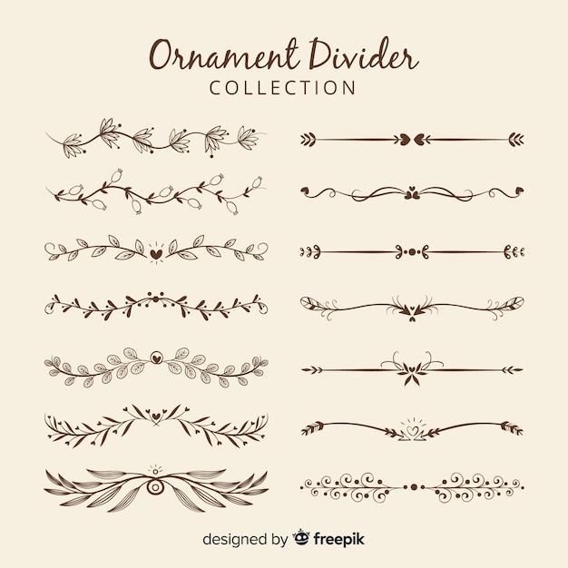 Коллекция разделителей орнаментов Бесплатные векторы