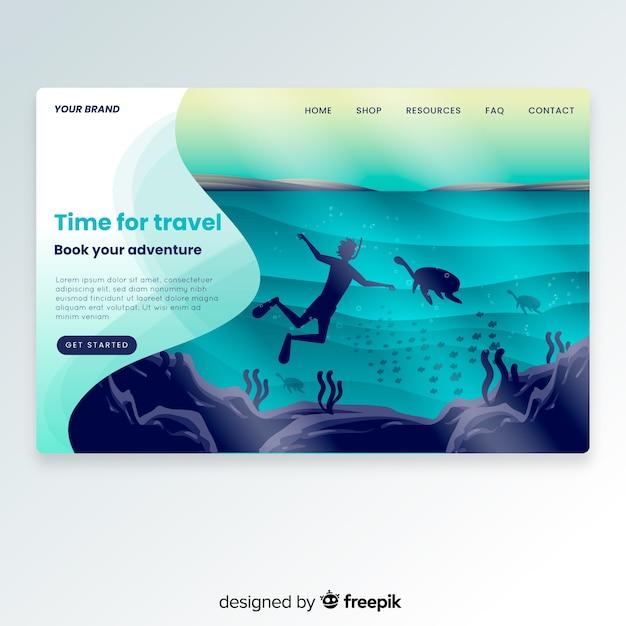 Целевая страница путешествия Бесплатные векторы