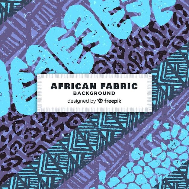 Традиционный африканский фон с принтом из ткани Бесплатные векторы
