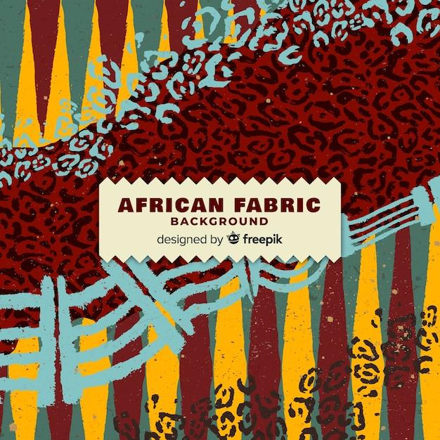 伝統的なアフリカの布地プリントの背景 無料ベクター