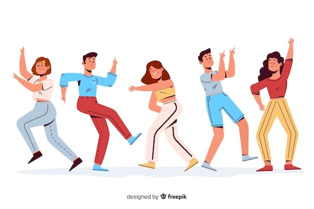 踊る人々 無料ベクター