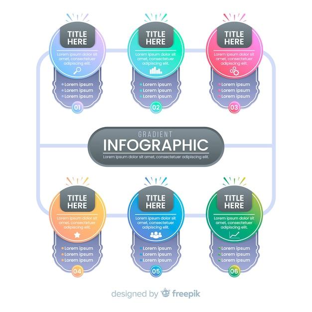 Инфографики Бесплатные векторы