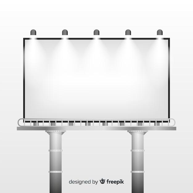 Реалистичный рекламный щит Бесплатные векторы