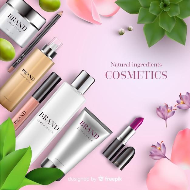 化粧品広告 無料ベクター