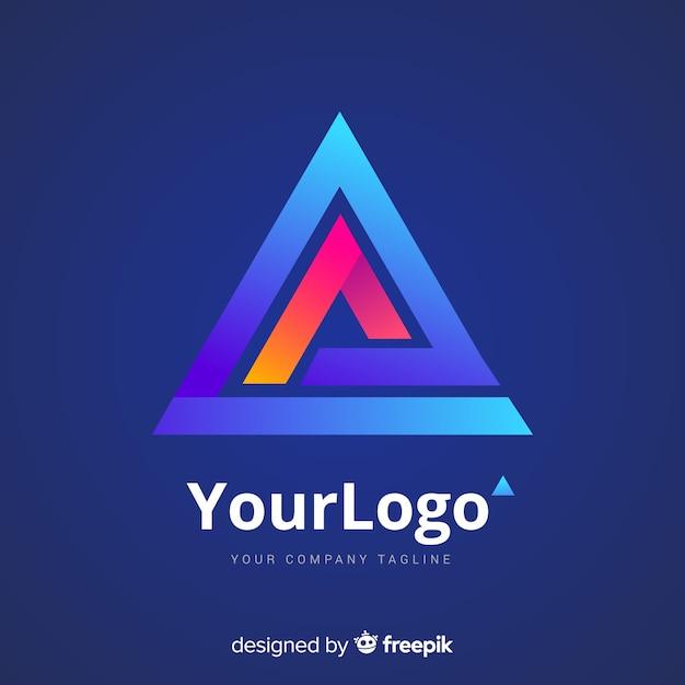 Логотип градиентной технологии Бесплатные векторы