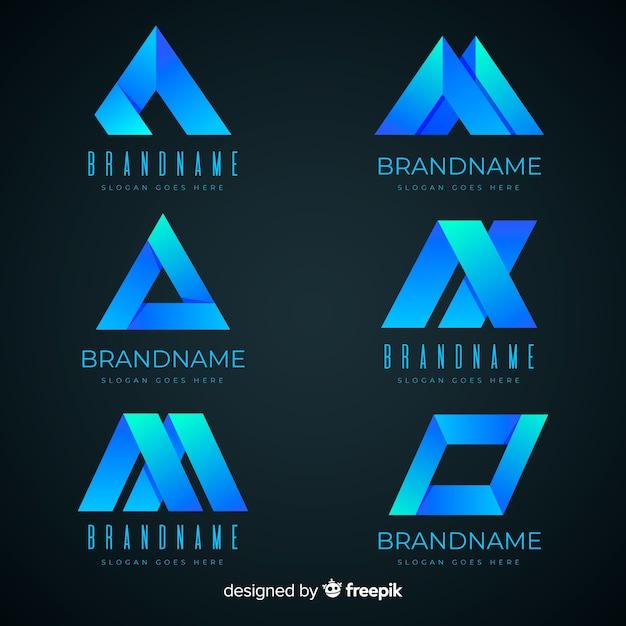Градиент абстрактный логотип Бесплатные векторы