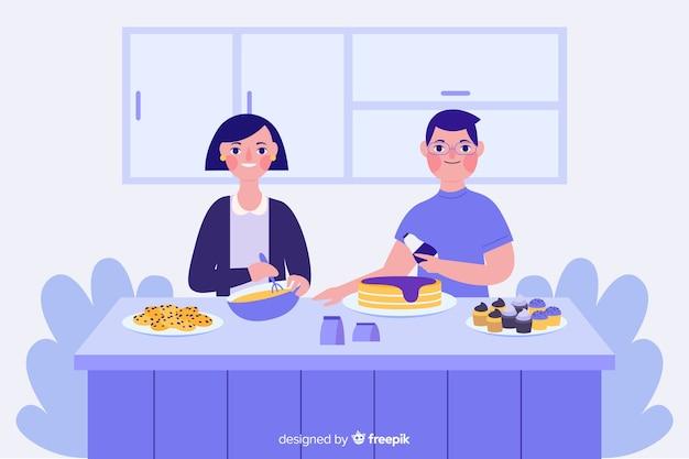 料理人 無料ベクター