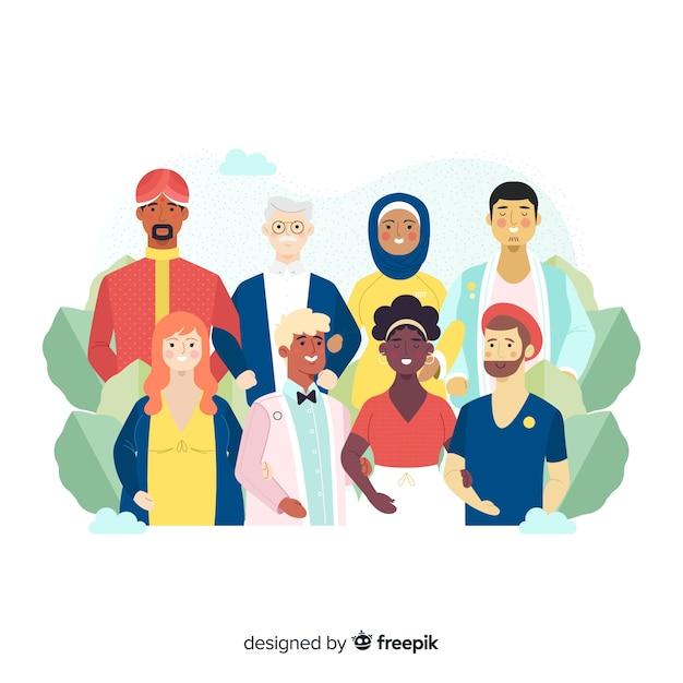 文化的多様性 無料ベクター
