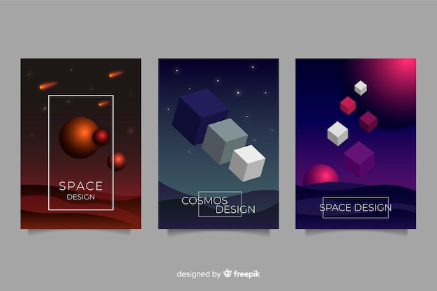 反重力形状パンフレットコレクション 無料ベクター