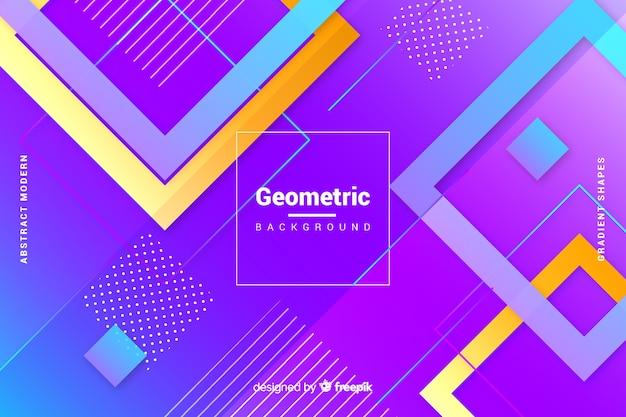 平らなグラデーションの幾何学的図形の背景 無料ベクター