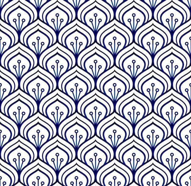 青と白のパターン Premiumベクター