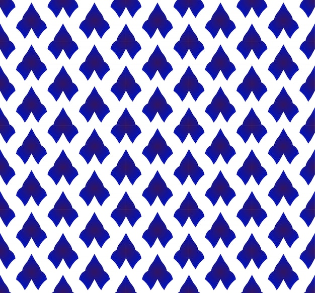 セラミックタイのパターン青と白 Premiumベクター