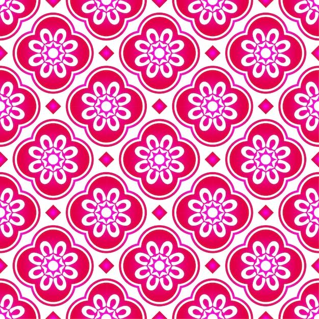 Абстрактный розовый цветок узор малайзия, красивая текстура бесшовного фона Premium векторы