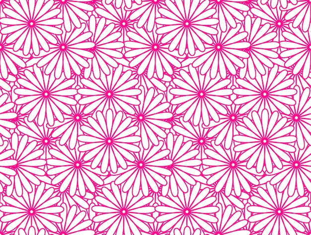 ピンクの花柄 Premiumベクター