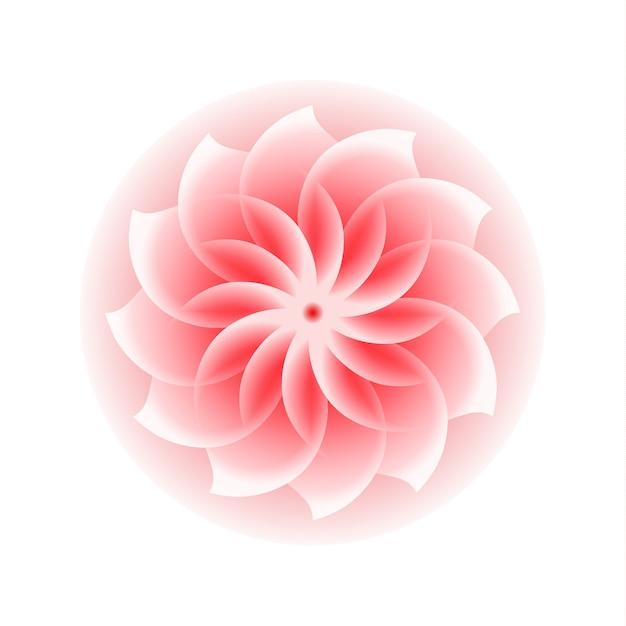 ピンクの花のアイコン Premiumベクター