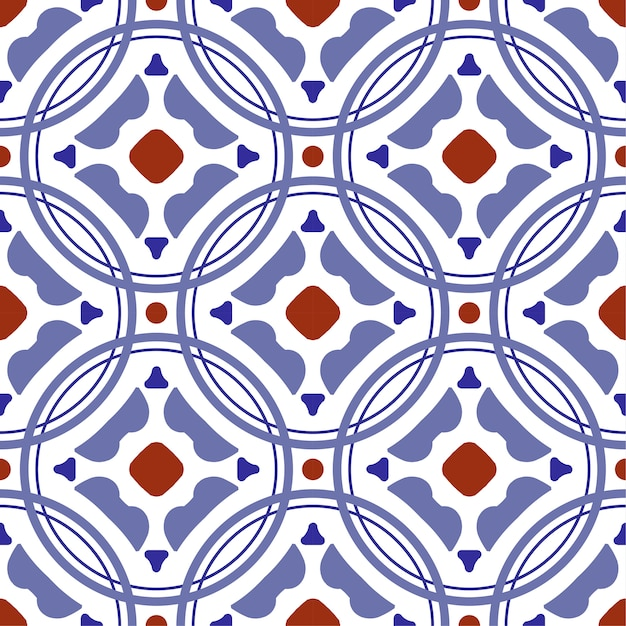 Керамическая плитка с рисунком, винтажная плитка с разноцветным пэчворком в турецком стиле, декоративный цветочный орнамент португалии Premium векторы