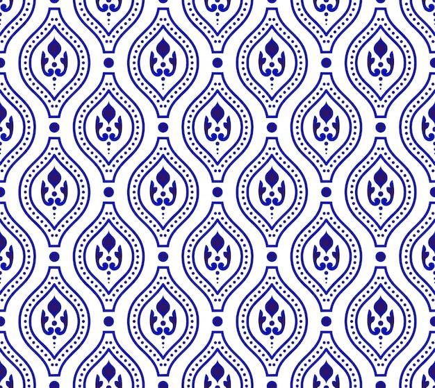 Симпатичный синий узор Premium векторы