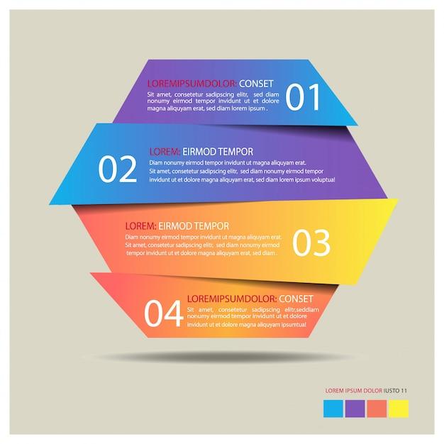 Шаблон шестиугольника баннер инфографики Premium векторы