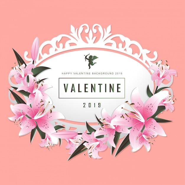 День святого валентина векторная иллюстрация фон Premium векторы