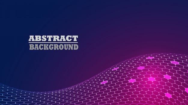 抽象的な六角形パターンモダンな背景。技術 Premiumベクター