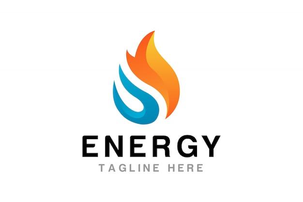 炎のロゴのデザインテンプレート Premiumベクター