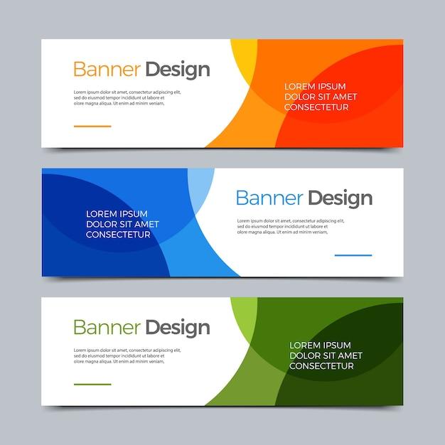 Векторные абстрактный баннер современного веб-шаблон Premium векторы