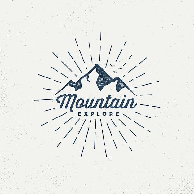 ベクトル山エンブレム。 Premiumベクター