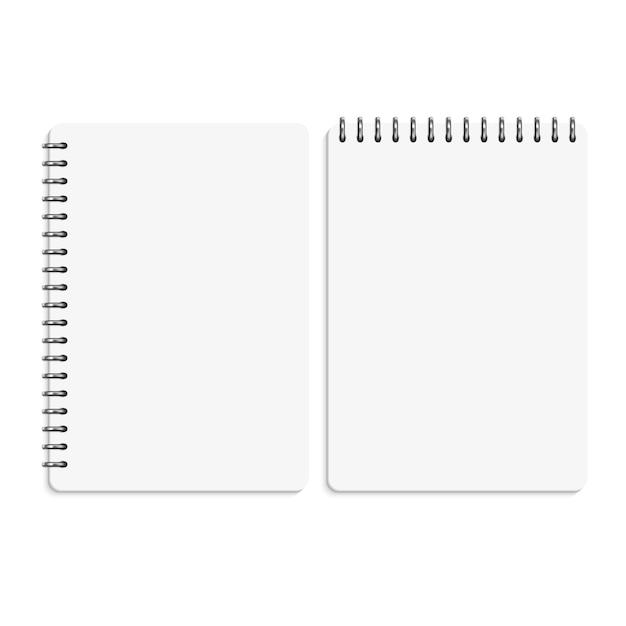 紙の空白のノート、メモ帳の孤立 Premiumベクター